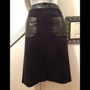 Mixed media faux leather skirt from Ann Taylor